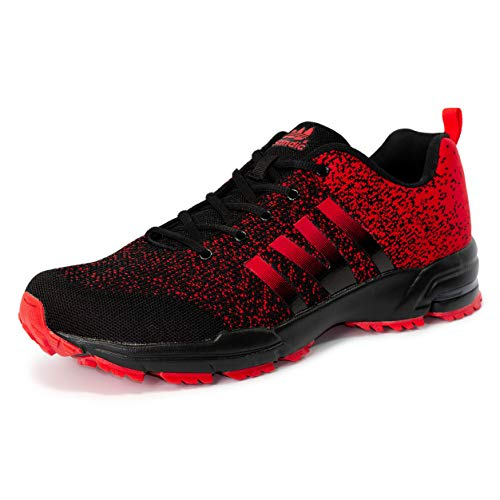 LEKANN 205 - Zapatillas deportivas para hombre, tallas grandes, talla 41-50 EU, color Rojo, talla 49 EU