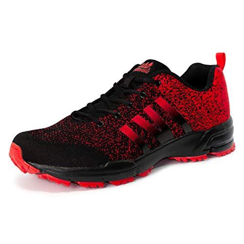 LEKANN No. 205 - Zapatillas deportivas para hombre, antideslizantes, ligeras, talla 47-50 EU, color Negro, talla 49 EU