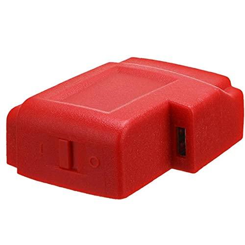 YepYes Cargador Adaptador convertidor de Conector USB para Milwaukee 49-24-2371 M18 Adaptador Cargador radios