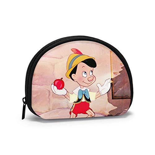 Pino-cchio Cartoon Cute (2) Münzgeldbörse Damen Herren Mode Kleine Shell Geldbörse Portmonee Tragbare Shell Aufbewahrungstasche Schmuckbeutel Schlüsselhalter Kopfhörer Multifunktionale Taschen