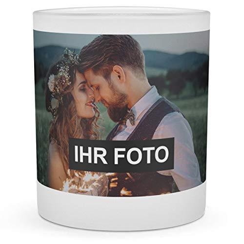 printplanet® - Windlicht mit Foto Bedrucken - Teelichthalter Personalisieren - Mit eigenem Motiv selbst gestalten