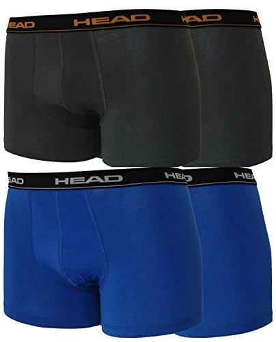 Head 4er Pack Herren Boxershorts Sparpack ohne Eingriff 841001001 (2er blau (021)/2er dark schadow(862), L)