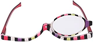 Bluelover Gafas De Maquillaje Anteojos De Aumento De Vidrio De Lectura Cosmética Plegable Gafas - 3,0