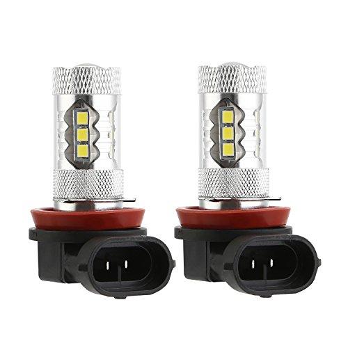 BRAUTO 2 Pcs 80 W H8/H11 Led Brouillard Ampoule Drl Lampe Haute Puissance