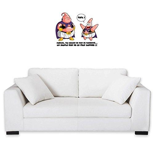 Okiwoki Sticker Mural Dragon Ball Z - Bob l'éponge parodique Boubou aka Majin BOU et Patrick : Tel père, tel Fils !! (Parodie Dragon Ball Z - Bob l'éponge)