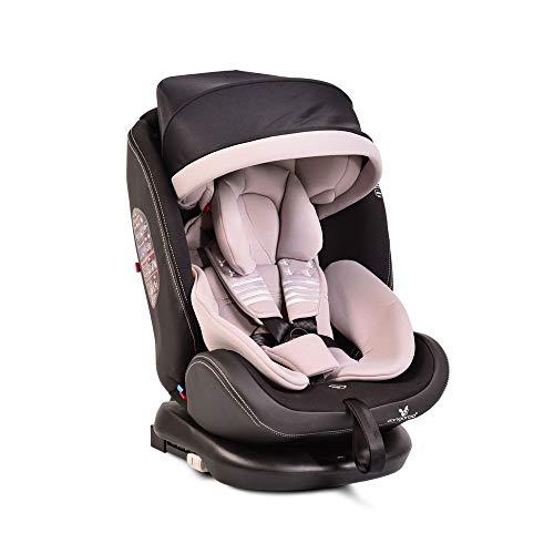 Seggiolino per bambini Cangaroo Pilot 0-36 kg Gruppo 0+/1/2/3, Isofix, girevole, inclinazione 165°, colorazione:grigio