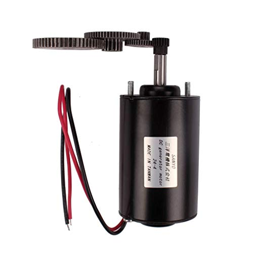 BUBUQD Small Wind Turbine Generator 36W 40W 12-24V DC Permanent Magnet Motor Dual Purpose 4 Gears