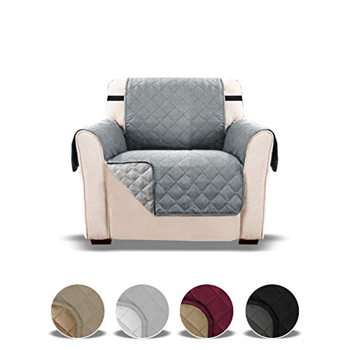 Sofa covers 1 seater, Arm chair cover, chair Protector, sofa protectors from pets, sofa covers for dogs, armchair covers, recliner covers, couch sofas pet furniture slip slipcover Grey one seat