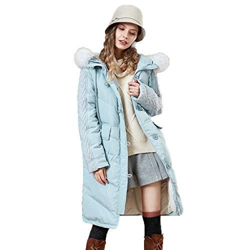 Donsjas, middenhanger, katoenen mantel, over de knie, katoen, lange capuchon en trekkoord.