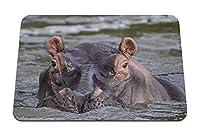 26cmx21cm マウスパッド (カバスイミング川沼口輪) パターンカスタムの マウスパッド