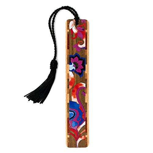 Floral - Flowers - Color Wooden Bookmark with Tassel - Search B07QKGLHZK to See Personalized Version