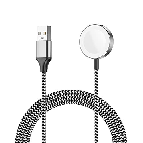 Apetiy Cargador para Apple Watch Cargador Magnético para iWatch Cable para AppleWatch 1M Cargador para iWatch con Adsorción Fuerte Compatible con iWatch Series 7/6/SE/5/4/3/2/1,38mm,40mm,42mm,44mm