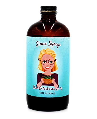 That Elderberry Lady Sinus Syrup with Honey - Organic & All Natural Ingredients - Homeopathic Remedy for Respiratory and Allergy Support with Antioxidant Immune Protection for Kids & Adults (16 oz)