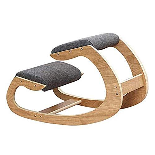 ZWSM Ergonomischer Knienstuhl Für Home Office, Haltung Korrektur Abgewinkelter Sitzort Orthopädische Rocking-Kniende Stühle Rücken- Und Nackenschmerz, Die Rocking Desk-Stuhl Entlastet
