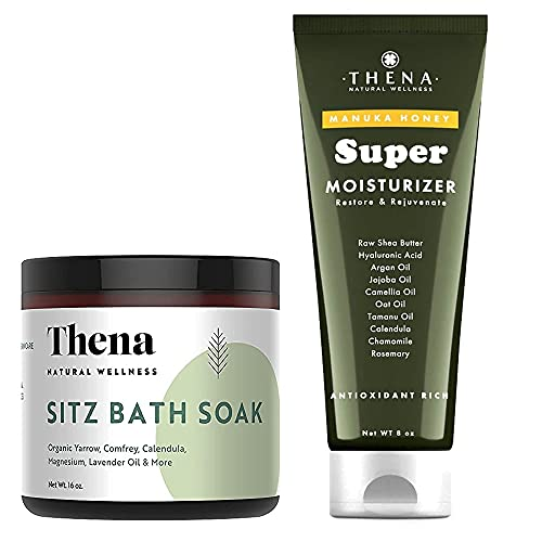THENA Manuka Honey Cream Moisturizer and Organic Sitz Bath Soak Bundle