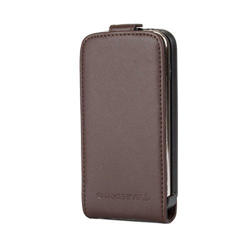 Snakehive® Samsung Galaxy Ace 3 Cuero Laminado Funda volteable para Samsung Galaxy Ace 3 (Marrón)