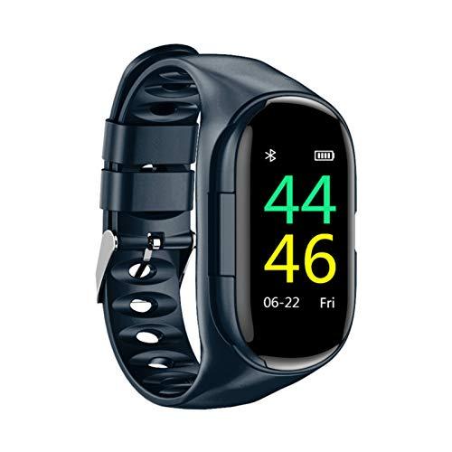 YOUPOU Pulsera inteligente con auriculares, 2 en 1 Fitness Tracker Band Auriculares Bluetooth inalámbricos, adecuados para deportes, escuchar música, seguimiento de actividad