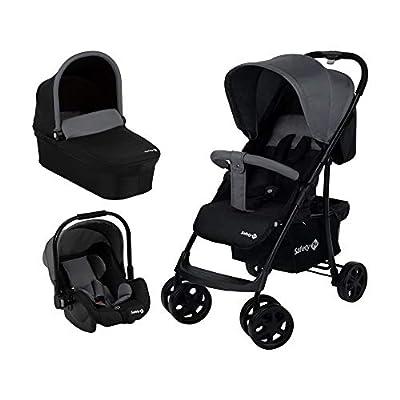 Safety 1st Cochecito Roadeo 3 en 1, Cochecito confort con capazo plegable, Grupo 0+, desde el nacimiento hasta los 4 años, Black Grey (Gris Oscuro)