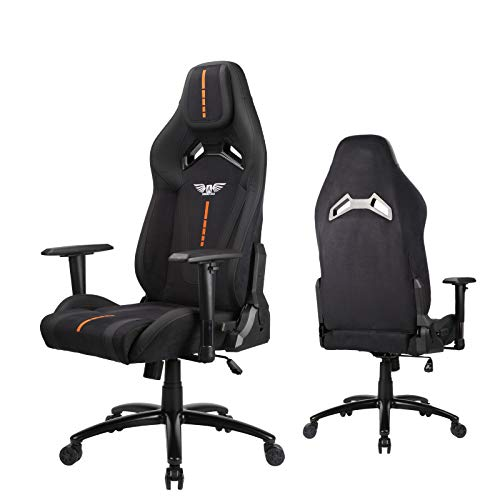 Acethrone PC Video Gaming Chairs for teens, Big and Tall Reclining Gaming Office Chair, Fabric Coating Gaming Desk Chair for Secret Lab Gamer Comfortable Chair(Black)