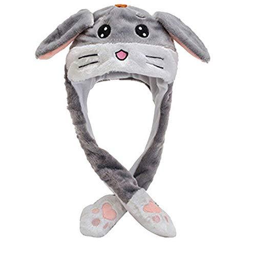 Coole Mütze mit beweglichen Ohren, für Jungen und Mädchen Gr. Einheitsgröße, hase