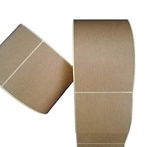 500 Etiquetas adhesivas grandes kraft 7 x 8,9 cm, perfectas para etiquetar envios, productos.