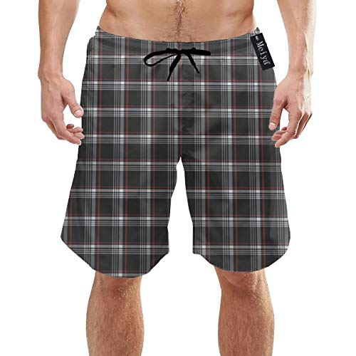 Alysai Golf GTI Plaid1 Herren Badehose Sommer 3D-Druck Grafik Casual Athletic Swimming Kurze Hose XL