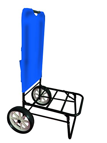 DINOMARKET Carrello/Trolley da Spiaggia Bike Pieghevole in Ferro Telo in POLYESTERE Blu - CM. 62X49X104H