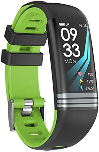Fitness Mujeres Reloj Inteligente Hombres Podómetro Monitor De Ritmo Cardíaco Presión Arterial Bluetooth Correr Reloj Deportivo Para Android IOS-Verde