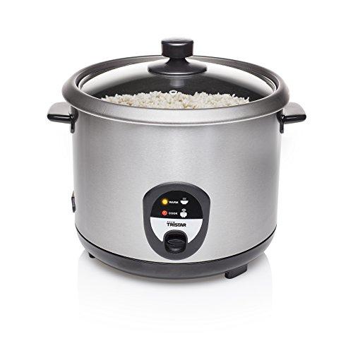 Tristar RK rijstkoker, droogkookbeveiliging 2.2 Liter zwart, roestvrij staal