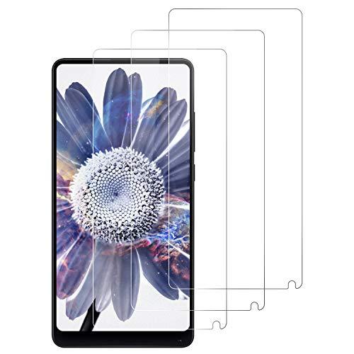DOSNTO Protector de Pantalla para Xiaomi Mi Mix 2, 3-Pack Cristal Vidrio Templado Premium Mi Mix 2 [Anti-Arañazos][Sin Burbujas ][Kit Fácil de Instalar][Dureza 9H][Funda Compatible] [Alta Definicion]