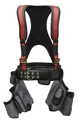 Super Anchor Sicherheit 6351-rll all-pakka Geschirr Plus Werkzeugtasche Combo, groß lang, rot
