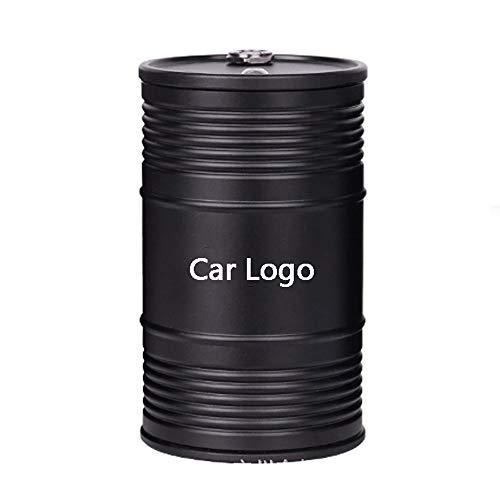 YYD auto-asbak, roestvrij staal, voor binnen en buiten, vuilnisbak met auto-logo
