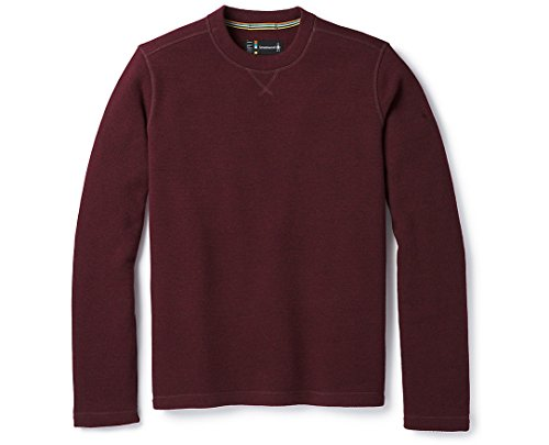 Smartwool Men's Hudson Trail Fleece Crew Sweater Tibetan Red XL