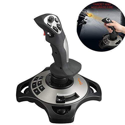 Flight Joy Stick PC Game PXN-2113 Interfaz USB Ordenador con controlador de vibración analógico Juego Joystick