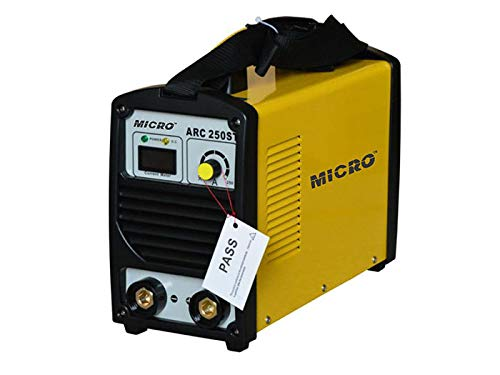 MICRO ARC-250 MOSFET Type Inverter Arc Welding Machine with Standard Accessories, Single Phase 230 Volts, 250A Colour Blue/Yellow