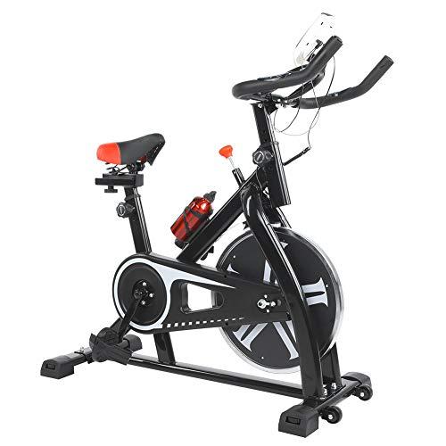 Estink bicicleta giratoria con volante de inercia de 6 kg con asiento ajustable, velocímetro, monitor LCD, monitor de frecuencia cardíaca, bicicleta estática para bajar de peso, peso máximo 120 kg