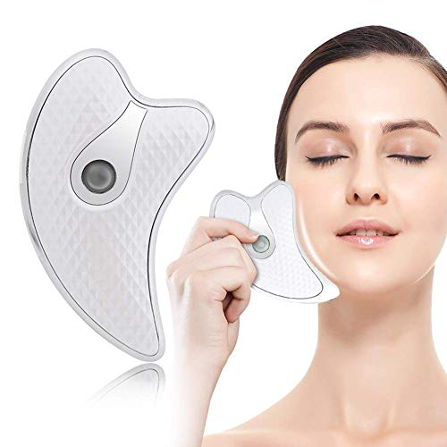 KK-mall Face Massager Anti Wrinkles, 45? ±5? Heat Vibration Anti Aging Facial Device for Skin Tightening & Lifting, USB Rechargeable, 2 Modes (White)