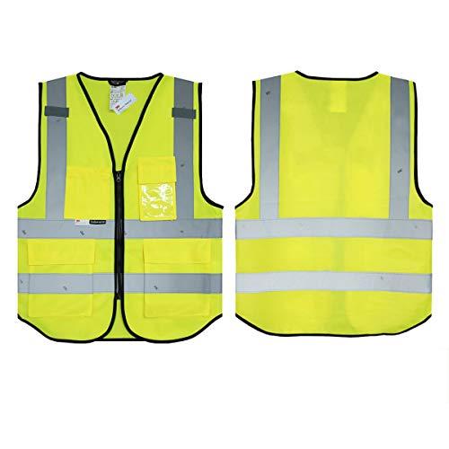 Gelb Salzmann 3M Warnweste, für Handy, Ausweis, Tasche, Warnweste, reflektierendes Klebeband