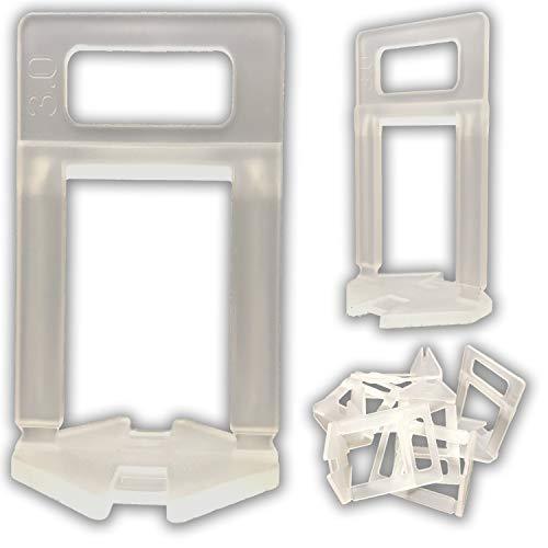 1000 HOHE Zuglaschen 3mm - freie Auswahl - Fliesen Nivelliersystem - Zange Keile Zuglaschen individuell zusammenstellen - frei wählbar - Mega-Auswahl an Variationen (1000 HOHE Laschen, 3,0mm)