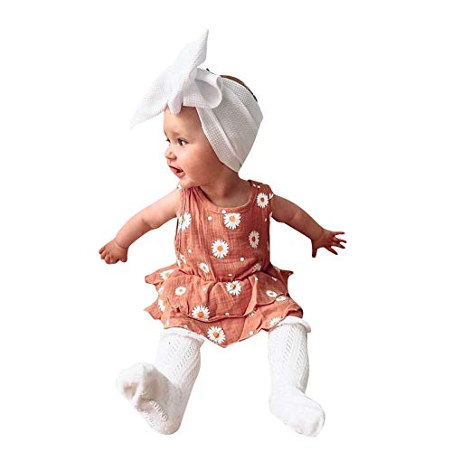 Pelele para bebé de lino con encaje y mangas de falda para recién nacidos, para niña, vestido de princesa, lazo, a rayas, para verano, fiesta, con botones, monos rosa 6-9 Meses