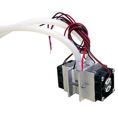 YELLAYBY Kits de Bricolaje Sistema de refrigeración de refrigeración Peltier Thermoeléctrico Sistema de refrigeración de Agua + Ventilador + 2pcs TEC1-12706 Refrigeradores
