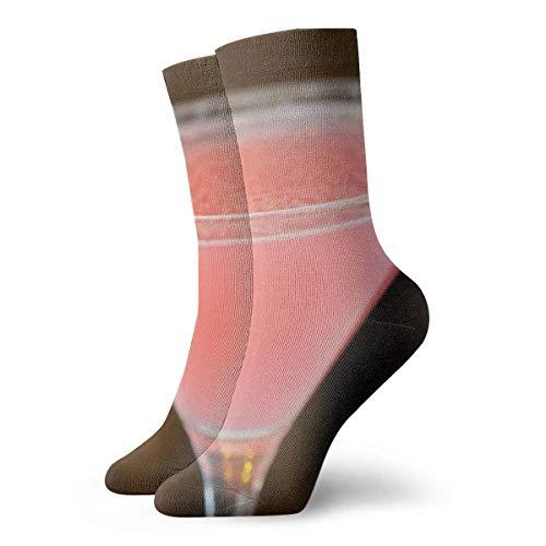 Kevin-Shop helder cocktailglas roze vloeistof volwassenen korte sokken gezellige sokken yoga wandelen fietsen lopen voetbal sport