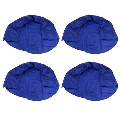 SHYEKYO Cubierta de Rueda, 4 Piezas de Cubierta de Rueda de Coche, Protector de neumáticos 210D Oxford Impermeable con Banda elástica para vehículos recreativos, caravanas, remolques y Otros(Azul)