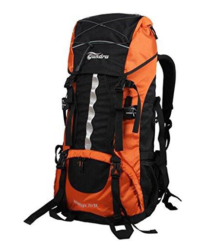 sac à dos randonnée épaules 70L80L alpinisme sacs pour les hommes et les femmes sac de voyage avec housse de pluie Sacs à dos de randonnée ( Couleur : Orange , taille : 70L+10L )