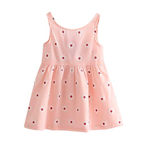 WOCACHI Toddler Baby Girls Dresses, Toddler Baby Girl Kids Bowknot Floral Sleeveless Casual Princess Dresse Clothing 2pcs 3pcs Footies Outfit Onesies 0-24 Months 2-8 Years Playsuits Tutu Princess