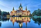 Hannover City Schloss Art XXL Wandbild Kunstdruck Foto