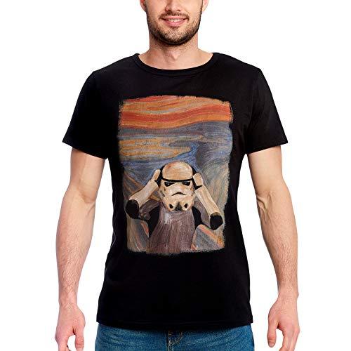 Original Stormtrooper Herren T-Shirt Scream Shepperton Design Studios für Star Wars Fans Baumwolle schwarz - L