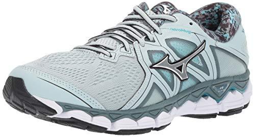 Mizuno Women's Wave 2 Running Shoe, Sky Gray-Silver, 6 B US