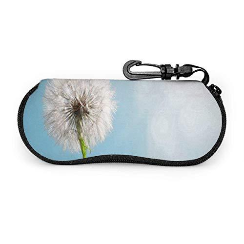 Estuche para anteojos Estuche para gafas de sol ligeras con forma de animal para cachorros divertidos, suave para mujeres, hombres, cremallera, neopreno