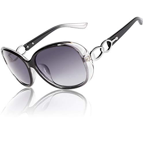 CGID Gafas de Sol Mujer Polarizadas Grande Diseñador de Gran Tamaño Gafas de Sol Polarizadas Mujer Protección UV400 Gafas con Diamantes de Imitación MJ85